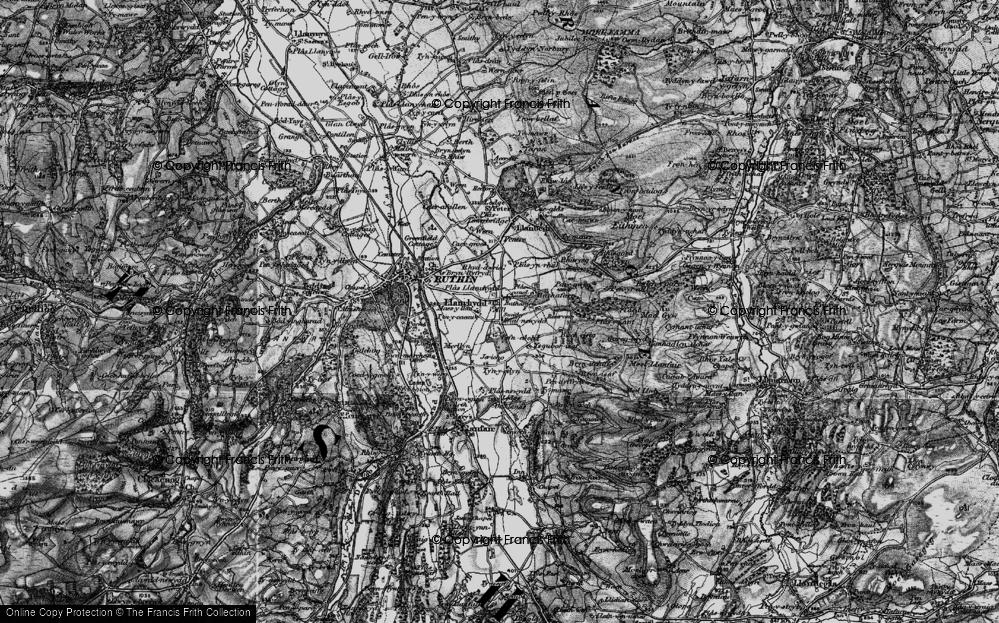 Old Map of Llanrhydd, 1897 in 1897