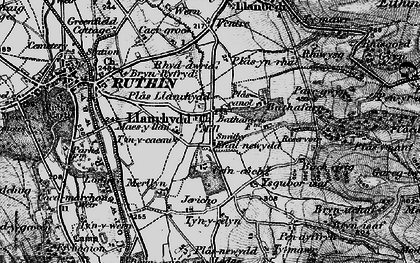 Old map of Bacheirig in 1897