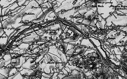 Old map of Llanrug in 1899