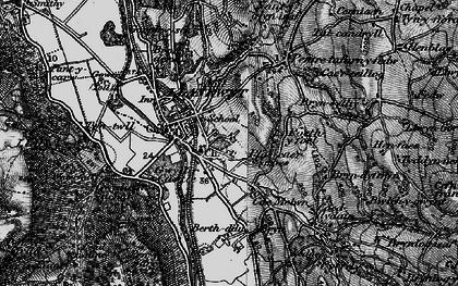 Old map of Llanrwst in 1899