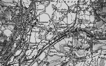 Old map of Llansamlet in 1897