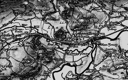 Old map of Llansanffraid-ym-Mechain in 1897