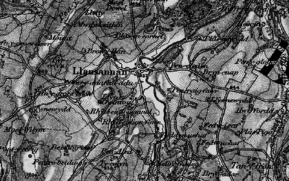 Old map of Acrau in 1897