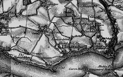 Old map of Llanstadwell in 1898