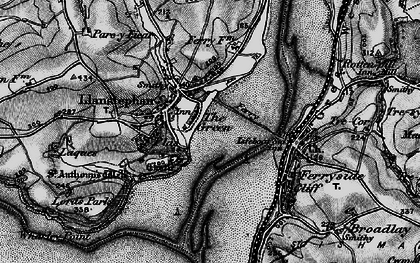 Old map of Wharley Point in 1896
