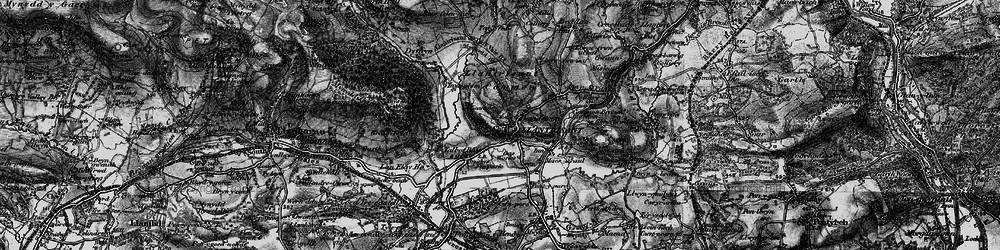 Old map of Llantrisant in 1897