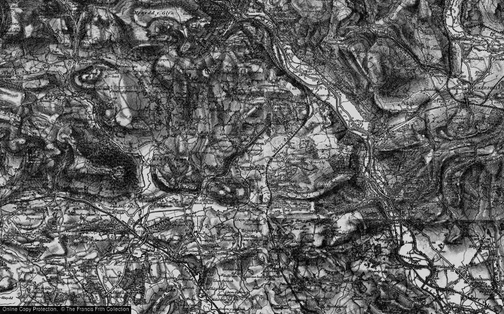 Old Map of Llantwit Fardre, 1897 in 1897