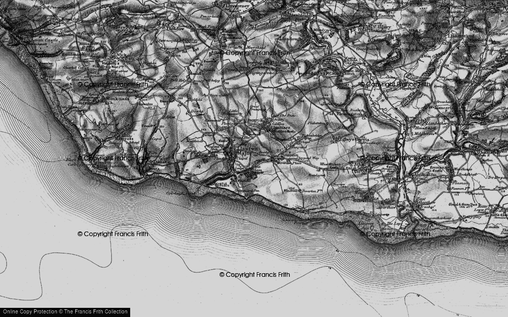 Old Map of Llantwit Major, 1897 in 1897