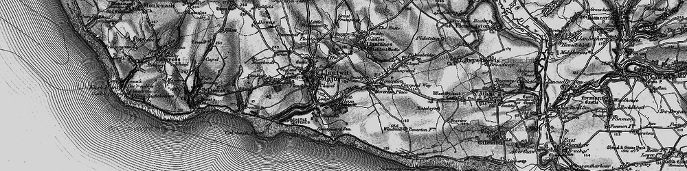 Old map of Llantwit Major in 1897