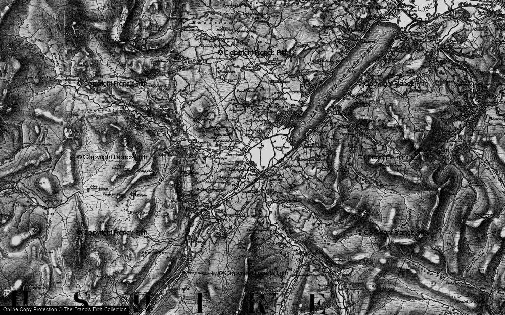 Old Map of Llanuwchllyn, 1899 in 1899