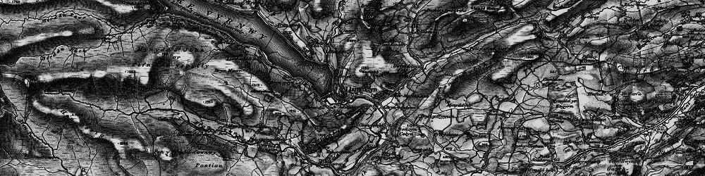 Old map of Llanwddyn in 1899