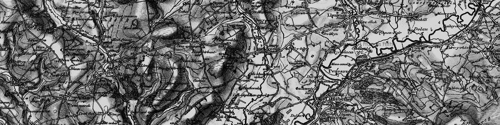 Old map of Abertegan in 1898