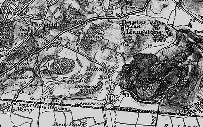 Old map of Llanwern in 1897