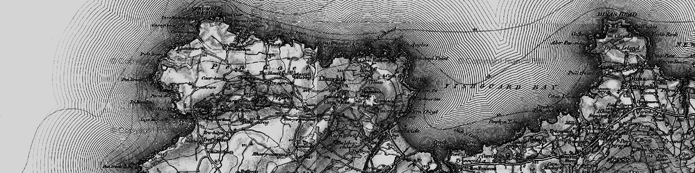 Old map of Y Globa Fawr in 1898