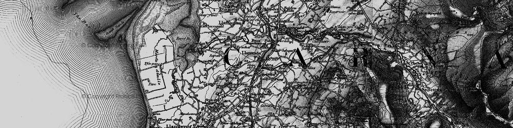 Old map of Llanwnda in 1899
