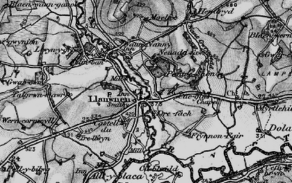 Old map of Afon Grannell in 1898