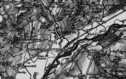 Old map of Llanwrda in 1898