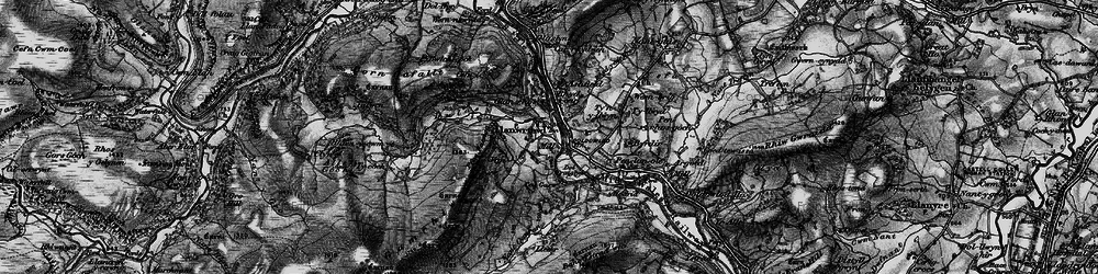 Old map of Argoed in 1898