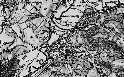 Old map of Afon Duar in 1898