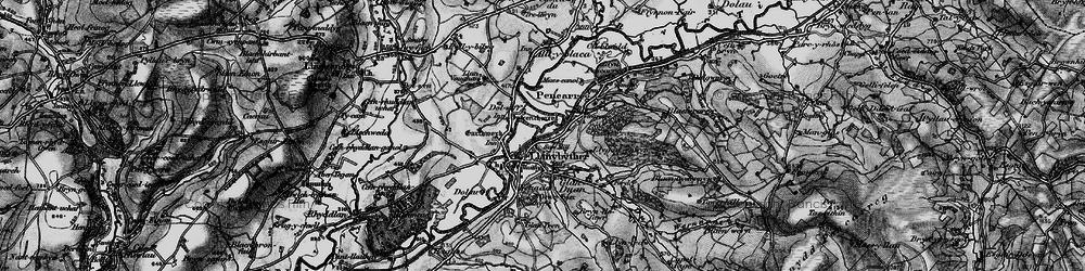 Old map of Allt Llwyn-crwn in 1898