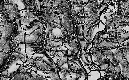 Old map of Afon Rhyd-y-bil in 1898