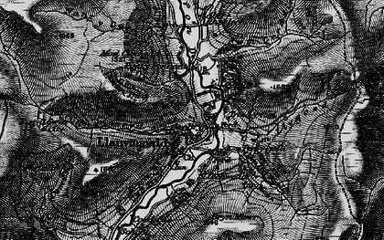 Old map of Afon Rhiwlech in 1899