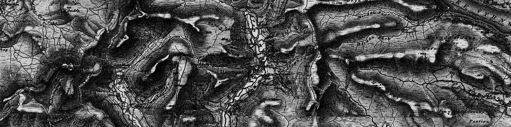 Old map of Llanymawddwy in 1899
