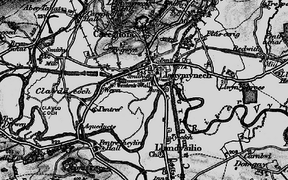 Old map of Llanymynech in 1897