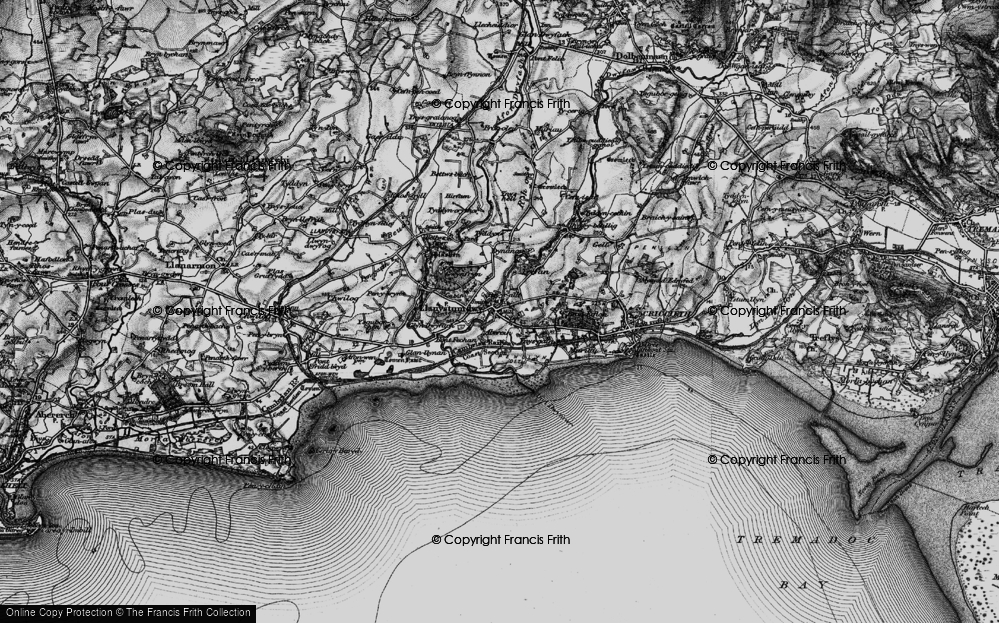 Old Map of Historic Map covering Aberkin in 1899