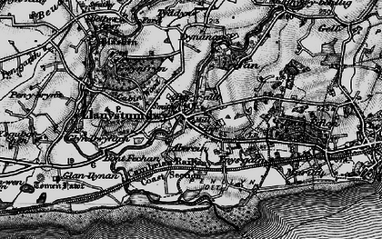 Old map of Llanystumdwy in 1899