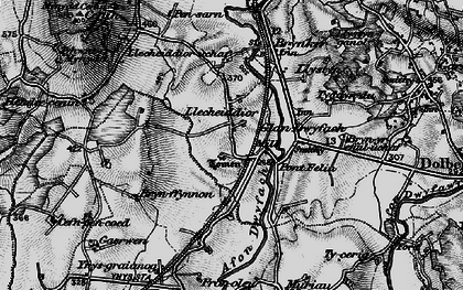 Old map of Ynys in 1899
