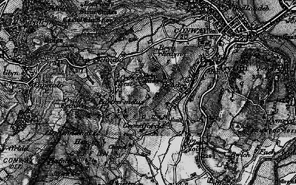 Old map of Afon Gyffin in 1899