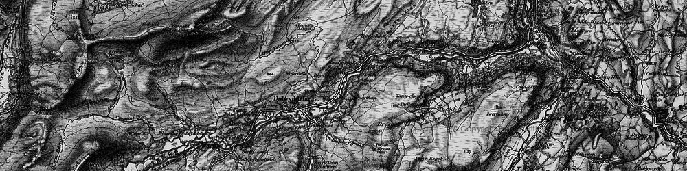 Old map of Lledr Valley in 1899