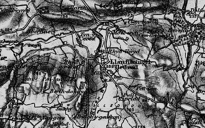 Old map of Lledrod in 1898