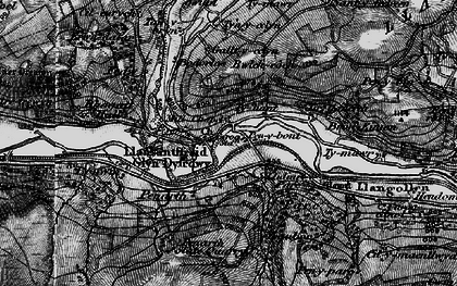 Old map of Llidiart-y-Parc in 1897