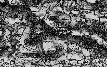 Old map of Lloc in 1896