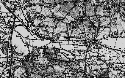 Old map of Leeswood Hall in 1897