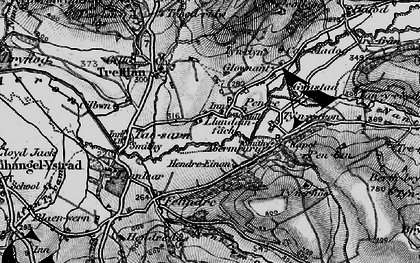 Old map of Abermeurig in 1898