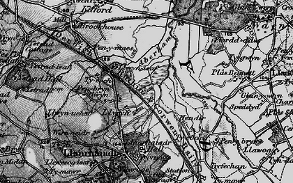 Old map of Aberham in 1897
