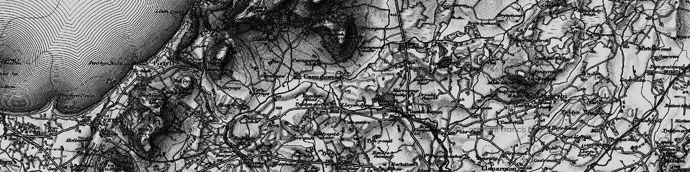 Old map of Ysgubor Plas in 1899