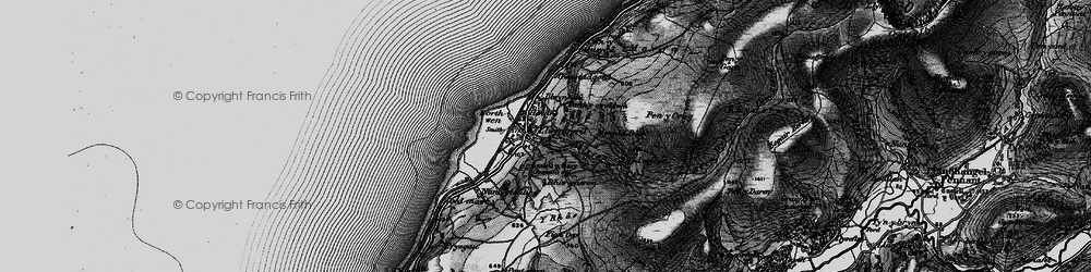 Old map of Y Rhos in 1899