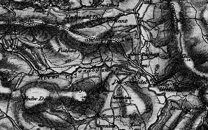 Old map of Afon Llwyd in 1899
