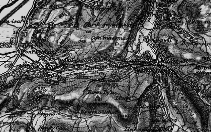Old map of Llyfnant Valley in 1899