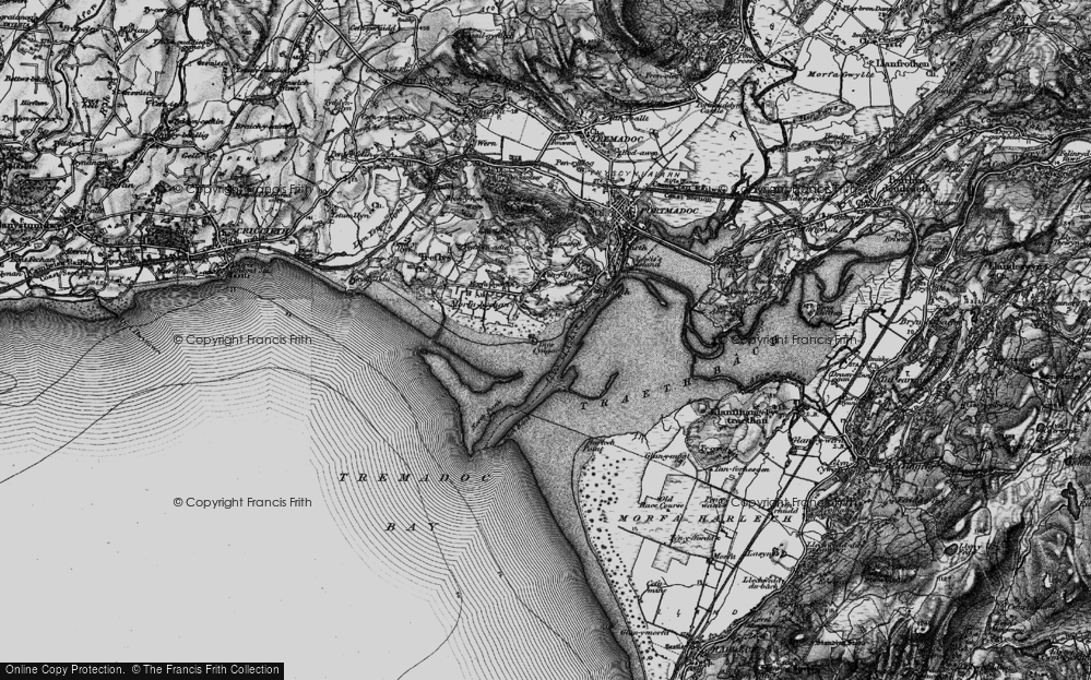Old Map of Historic Map covering Ynys Cyngar in 1899