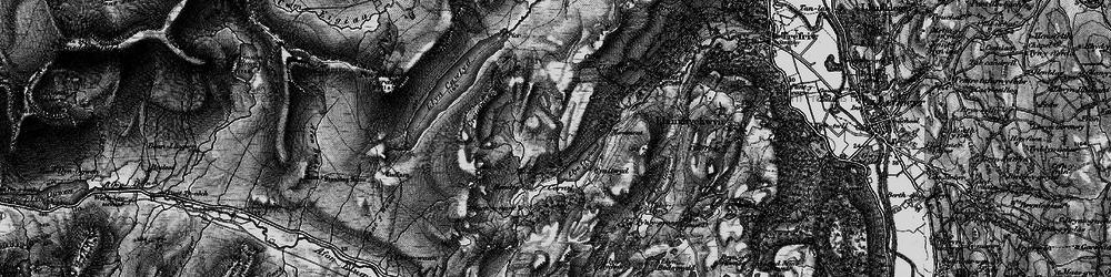 Old map of Llyn Crafnant in 1899