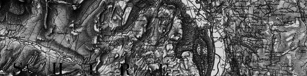 Old map of Afon Crafnant in 1899