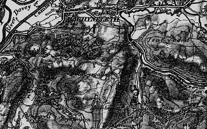 Old map of Llyn Glanmerin in 1899