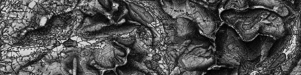 Old map of Afon Treweunydd in 1899