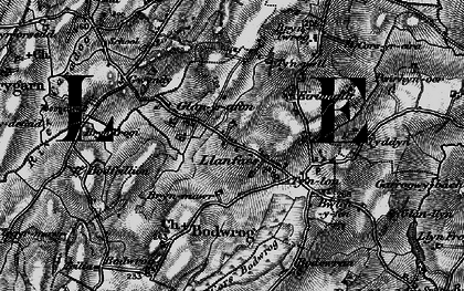 Old map of Afon Caradog in 1899