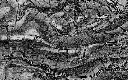Old map of Ash Cabin Flat in 1896